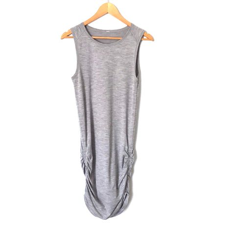 Lululemon Heathered Grey Ruched Tank Dress- Size ~4