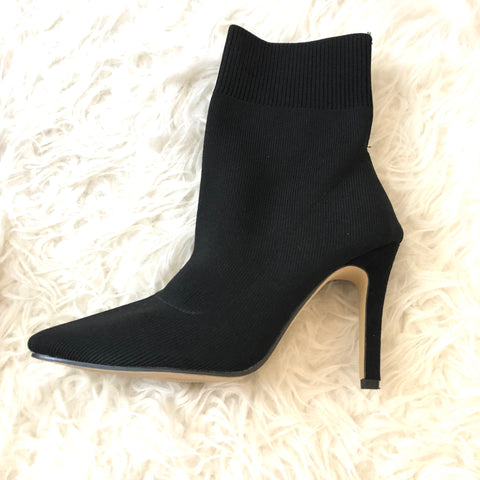 Goodnight Macaroon Black Sock Stretch Boot Heel- Size 38 (Like New)