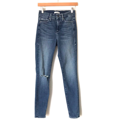 "Good American Good Legs Slit Knee Jeans- Size 0/25 (Inseam 28"")"