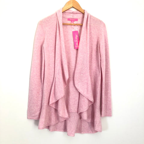 Lilly Pulitzer Heathered Pink Marette Cashmere Cardigan NWT- Size S