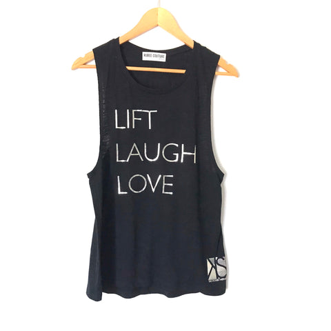 "Rubee Couture Black Tank ""Lift Laugh Love"" Kira Stokes Tank- Size S"