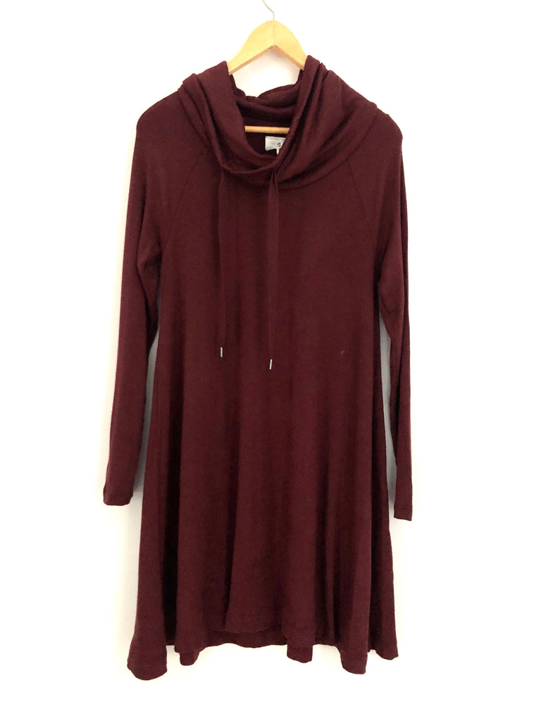 0ec956c00ba Lou   Grey Cowl Neck Sweater Dress- Size XS – The Saved Collection