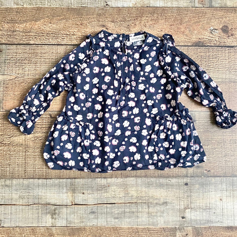 Baybala Navy Floral Long Sleeve Top- Size 2T