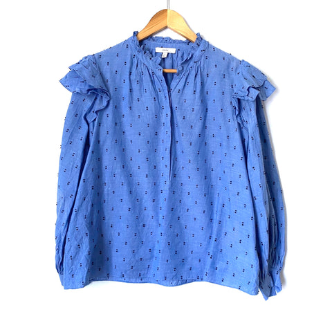 Joie Idonia Ruffled Cotton Button-Up Shirt - Size XS