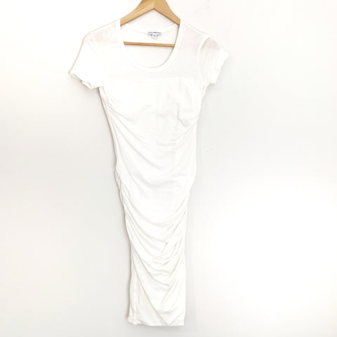 James Perse White Ruched Dress- Size 1
