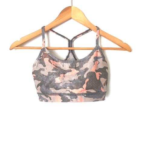 Wear It To Heart Pink/Grey Camo Sports Bra- Size S (we have matching leggings, sold as separates)