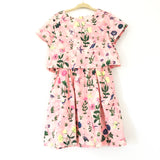 Girl's Youth J Crew Crewcuts Hot Pink Floral/Bird Print Dress- Size 6