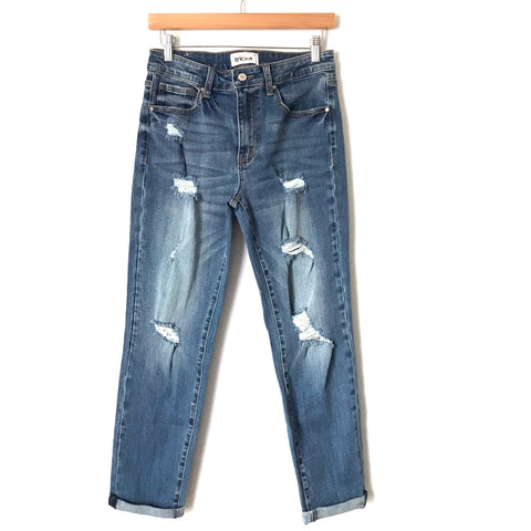 "Tricot Distressed Straight Leg Jeans- Size 5/27 (Inseam 26"")"