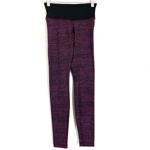 "Lululemon Black and Pink Marker Stripe Legging- Size 2 (Inseam 27"")"