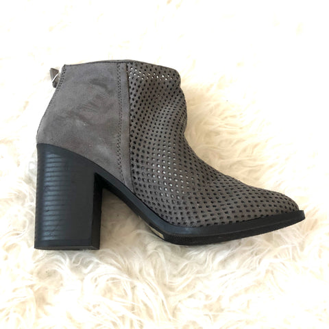 Cityclassified Grey Perforated Booties- Size 7.5 (Brand New!)