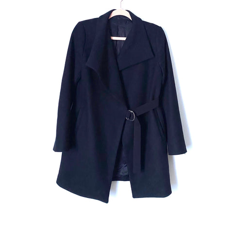 Zara Black Wool Blend Belted Coat- Size ~S (Jana)