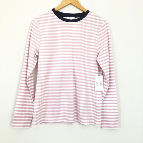 1901 Pink Stripe and Navy Collar Long Sleeve NWT- Size S