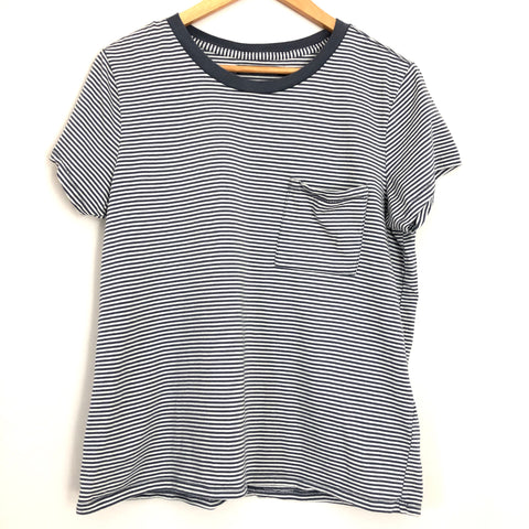 Abercombie & Fitch Striped Pocket Tee- Size M
