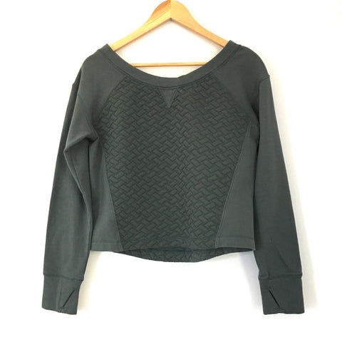 Zella Quilted Front/Back Cropped Top Pullover- Size S