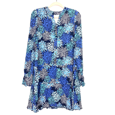 SAIL to SABLE Blue Coral Print Dress NWT- Size L