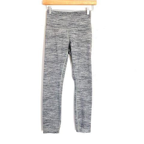 "Lululemon Grey Heathered Legging with 4"" Waist Panel- Size 4 (Inseam 25"")"