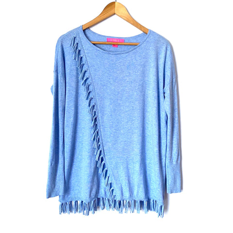 Lilly Pulitzer Blue Tassel Coolmax Sweater- Size XS