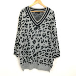 Excellentop Black/Grey Sweater Tunic NWT- Size ~M