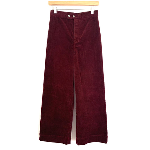 "& Other Stories Corduroy Wide Leg Pants- Size 4 (Inseam 25"")"