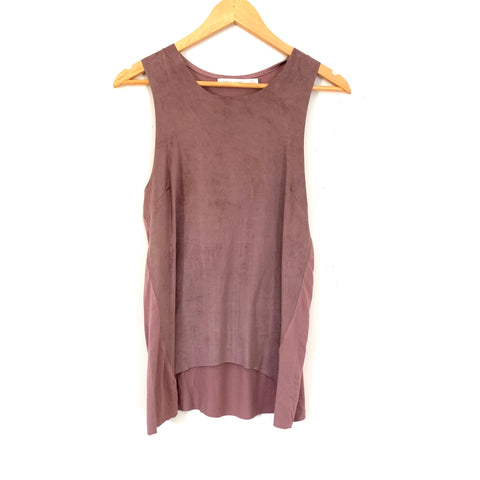 Bishop + Young Purple Suede Tank NWT- Size S