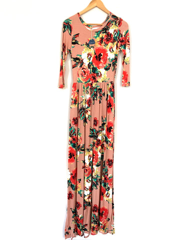 Pink Blush Rose Pink Floral Maternity Maxi Dress NWT- Size S