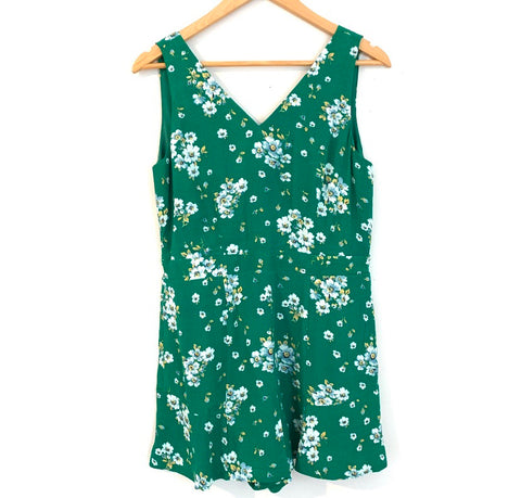 LOFT Green Floral Sleeveless Dress NWT- Size XS