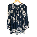 Altar'd State Navy Coral Empire Blouse- Size S