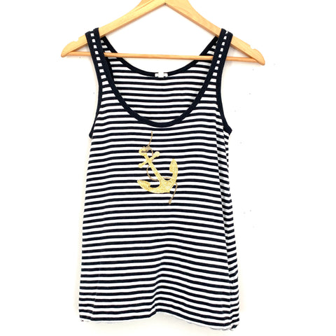 J. Crew Striped Anchor Tank- Size S