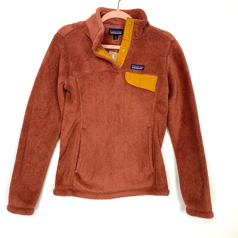 Patagonia Sisu Brown Re-Tool Snap T Pullover Slim Fit NWT- Size S