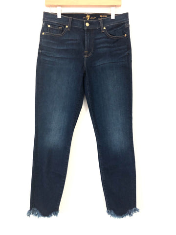 "Seven For All Mankind Jeans The Ankle Skinny with Frayed Hem- Size 30 (26"" Inseam)"