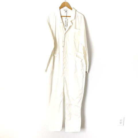 Alex Mill White Jumpsuit NWT- Size XL (see notes)