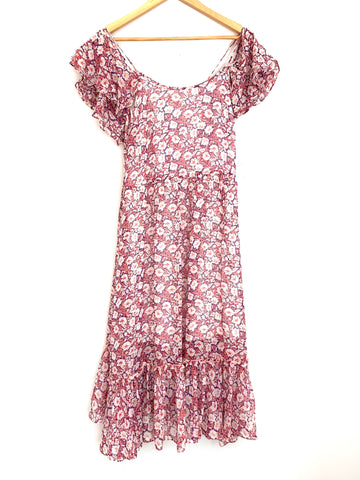Rebecca Minkoff Floral Cold Shoulder Dress- Size XS