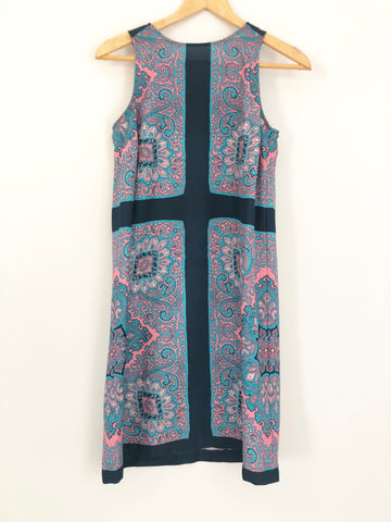 LOFT Patterned Tank Dress- Size XS