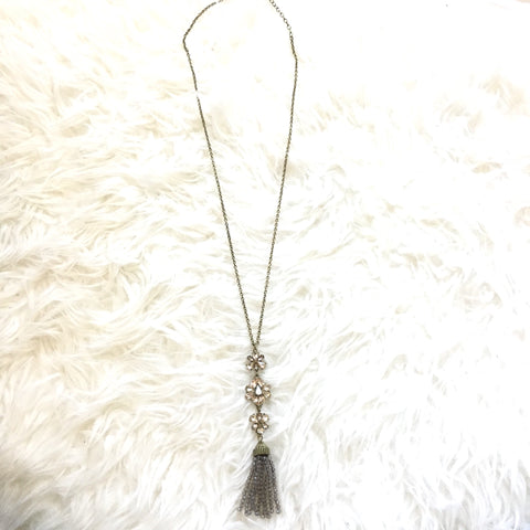 Sugarfix by BaubleBar Jewel and Clear Beaded Tassel Necklace