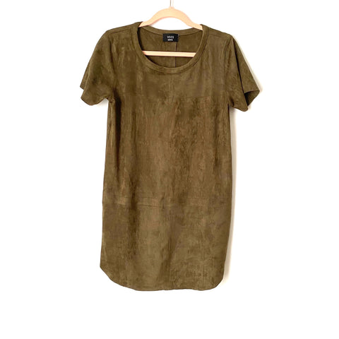 Vici Olive Green Suede Dress- Size M