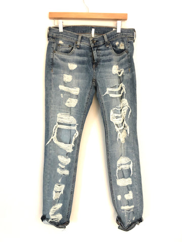 Rag & Bone Dre Boyfriend Distressed Jean- Size 26