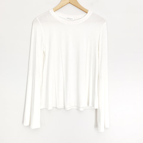 Vestique Ivory Long Bell Sleeve Blouse- Size S