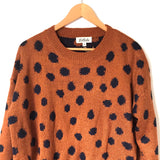Listicle Rust/Polka Dot Round Hem Sweater NWT- Size S