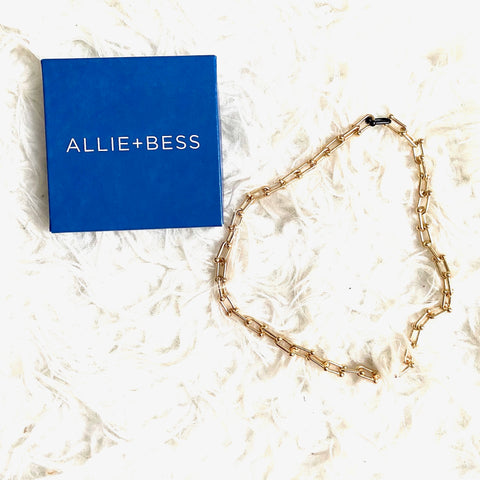 Allie + Bess Gold Chainlink Necklace