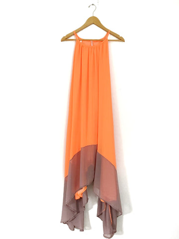 No Brand Neon Maxi with Asymmetrical Hem- Size S