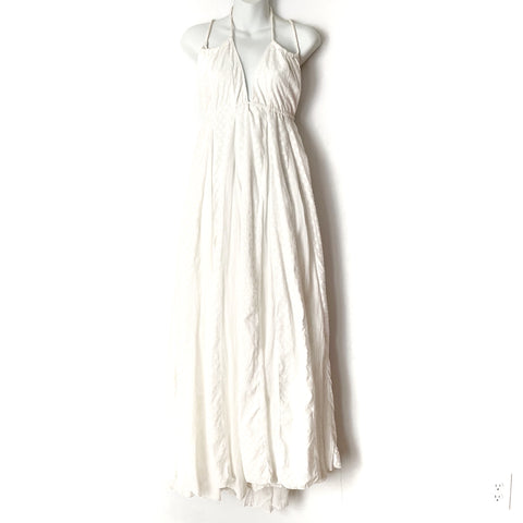 Free People White Maxi Dress- Size L (see notes)