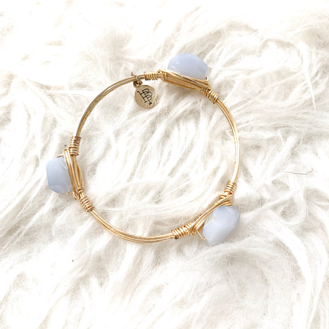 Bourbon & Boweties Clear Crystal and Gold Bracelet