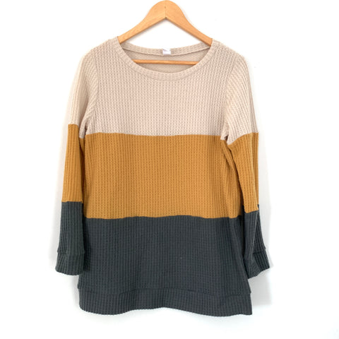 CY Fashion Color Block Sweater- Size S