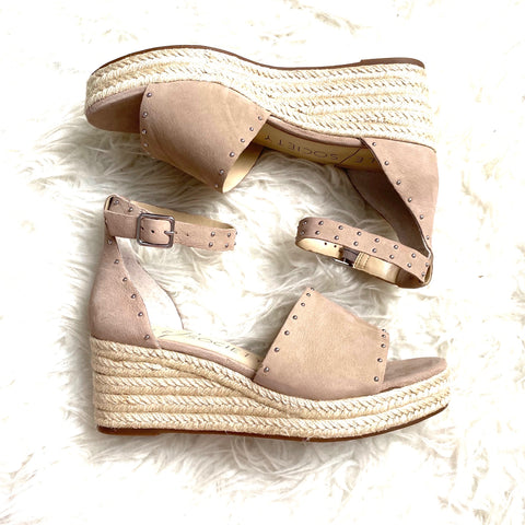 Sole Society Carya Microstudded Espadrille Wedges- Size 7 (like new condition)