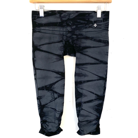 "NUX Black Tie Dye Super Crop Legging with Ruching (see notes)- Size S (Inseam 14"")"