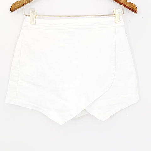 Honey Belle White Denim Envelope Skort- Size S