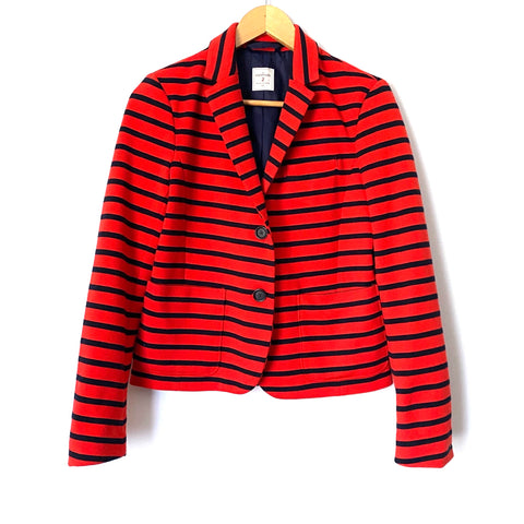Gap Red & Navy Striped The Academy Blazer- Size 2