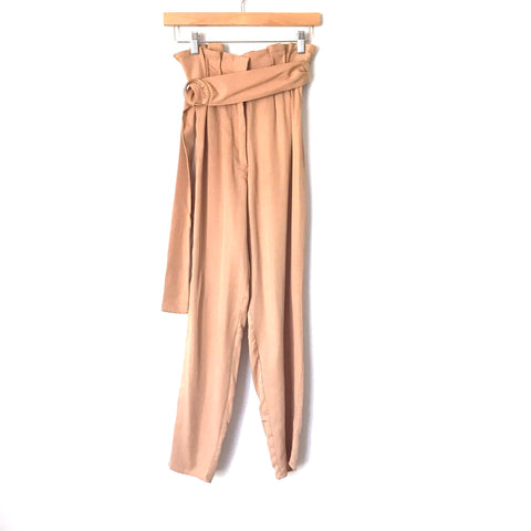 "Tularosa Paperbag Waist Belted Pants- Size XS (Inseam 27"")"