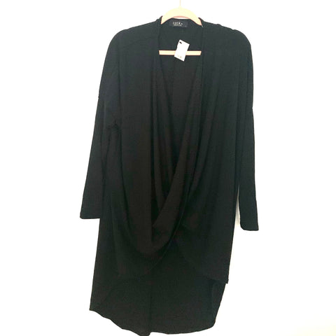 Akira Black Drape Front Hi/Low Long Sleeve Top NWT- Size S (sold out online)