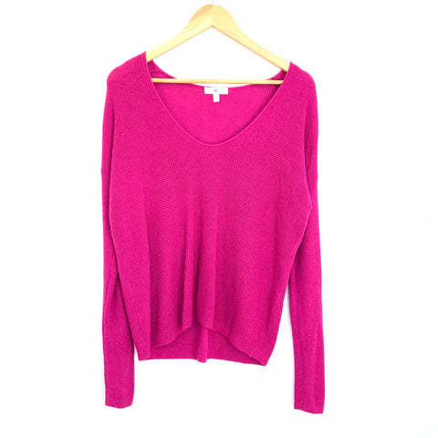 BP Magenta Open Knit Sweater- Size XS